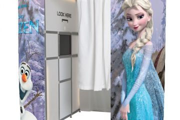 Photobooths frozen photo booth skins